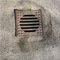 blockages in the yard drain